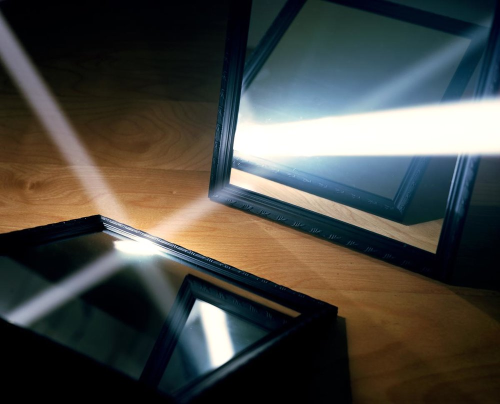 Light Reflecting off Two Mirrors