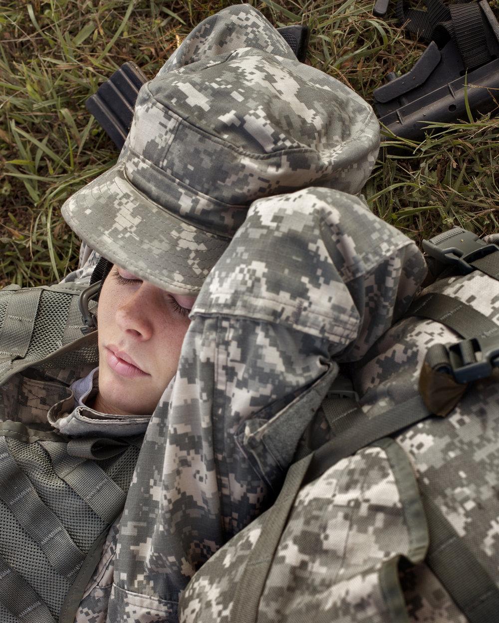 Powers Sleeping, Fort Dix, New Jersey, 2012