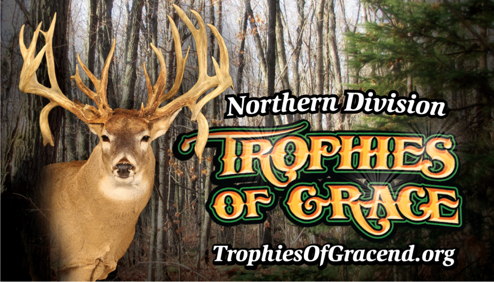 Trophies of Grace will present a display of 24 Trophy Buck Mounts, and stories of the hunt.