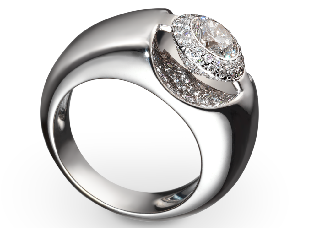 Bague Eolia or blanc Solal et diamant 0.60 carat.png