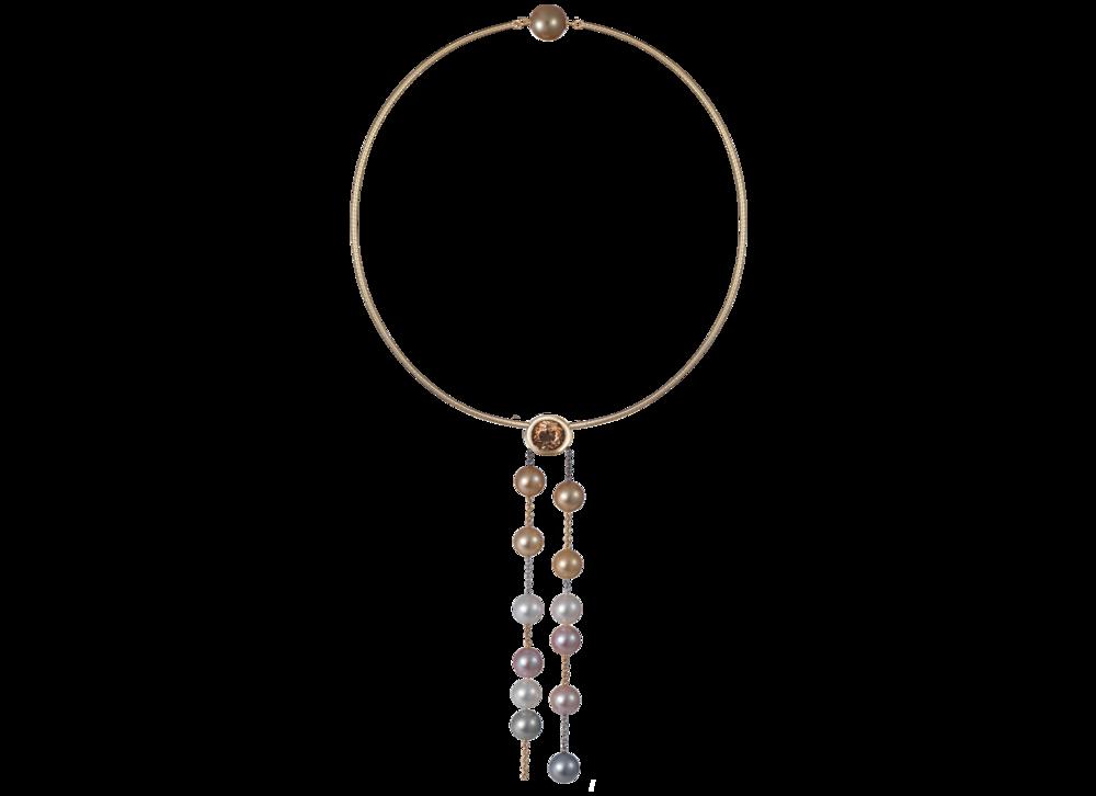 Collier de perles South sea, Tahiti & eau douce, or noir, blanc, jaune & rose.png