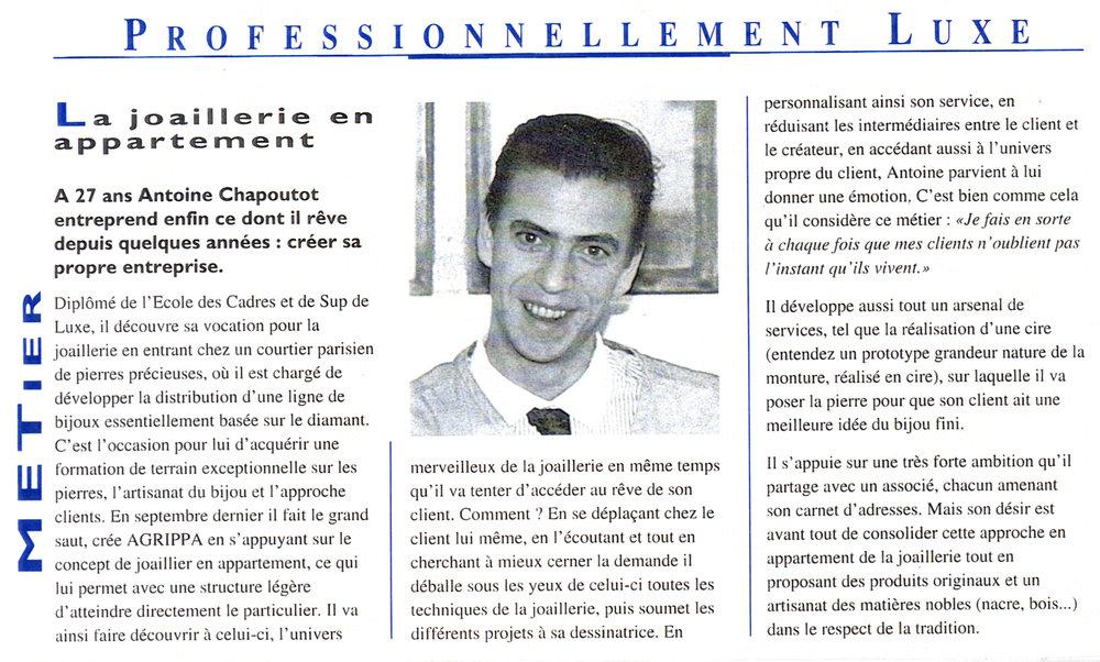 1995 - La GriffeLA REVUE de ceux qui font et feront le luxe de demainN°3