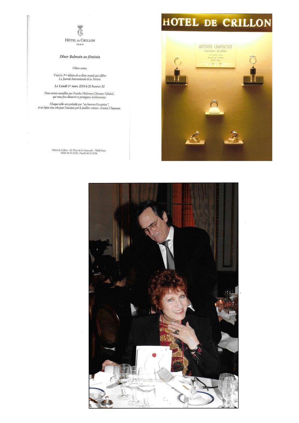 2004 - Antoine Chapoutot reçoit également au Crillon.