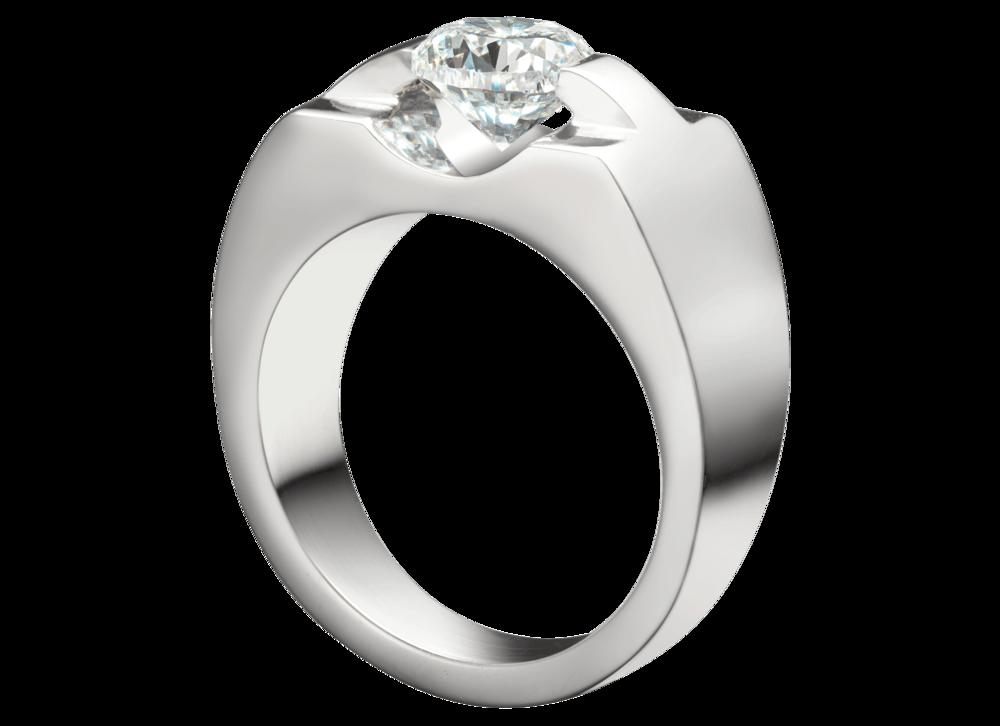 Bague Eolia section carrée or blanc et diamant.png