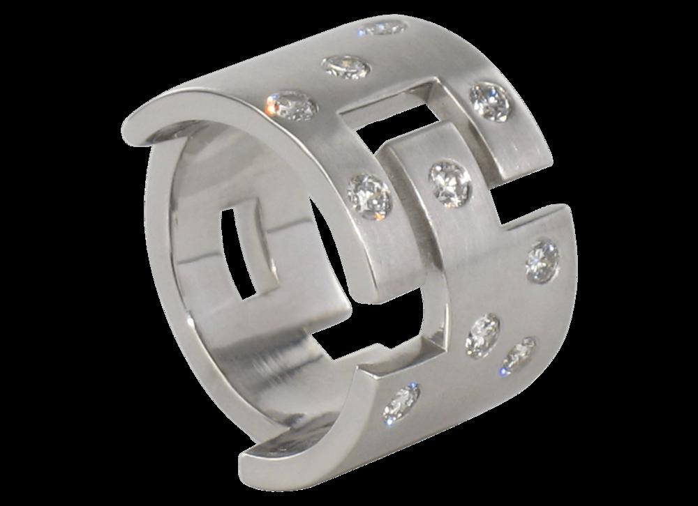 Bague Malevitch or blanc brossé et diamants 1.png