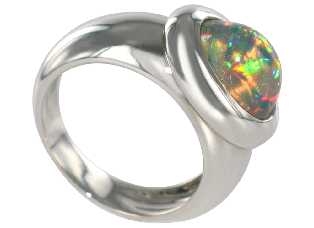 Bague Caboche or blanc & Opale Arlequin.png
