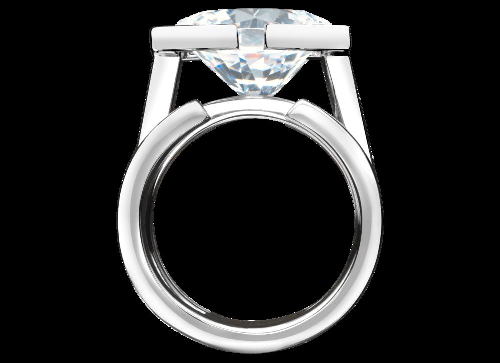 Bague Saint-Louis or blanc et diamant 5,48 carats face.png