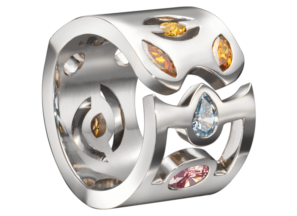 Bague Malevitch or blanc et diamants de couleur.png