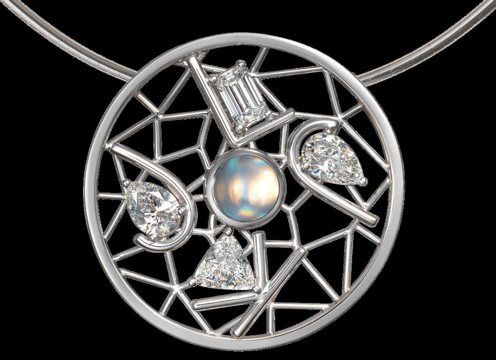 Pendentif Dreamcatcher or blanc diamants et Labradorite.png