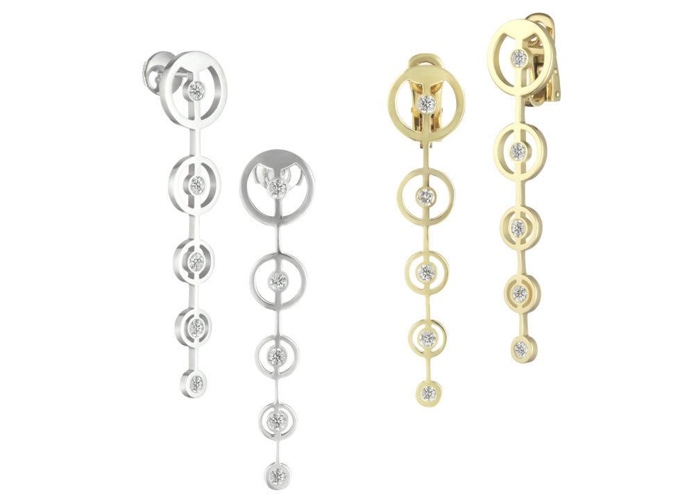 Boucles d'oreille Cascade, or blanc jaune & diamants.png