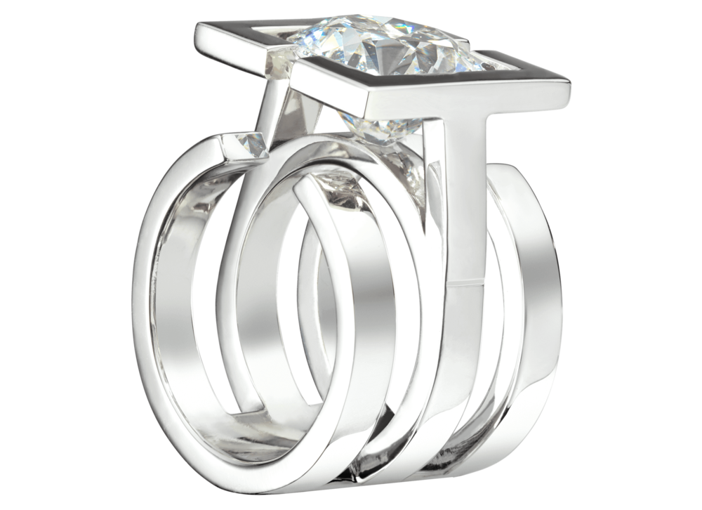 Bague Saint-Louis or blanc et diamant 5,48 carats perspective.png