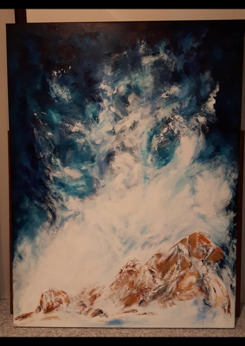 "FREEDOM:  Textured Acrylic. On Studio Canvas. 36"" x 47"""