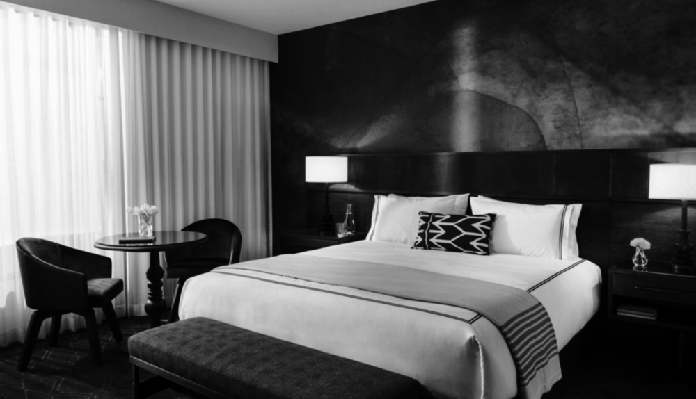 """Staying late?Stay the night! - Hotel Van Zandt has arrangeda discounted room block$279/night — click the image for details(or call 1-800-KIMPTON and mention """"Noche de Gala"""")"""