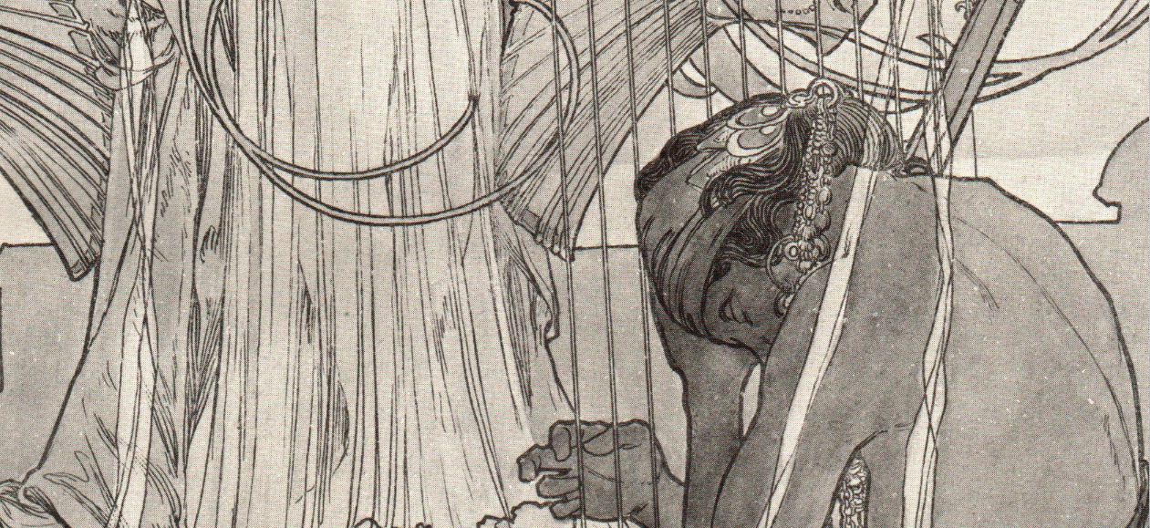 mucha drawing detail