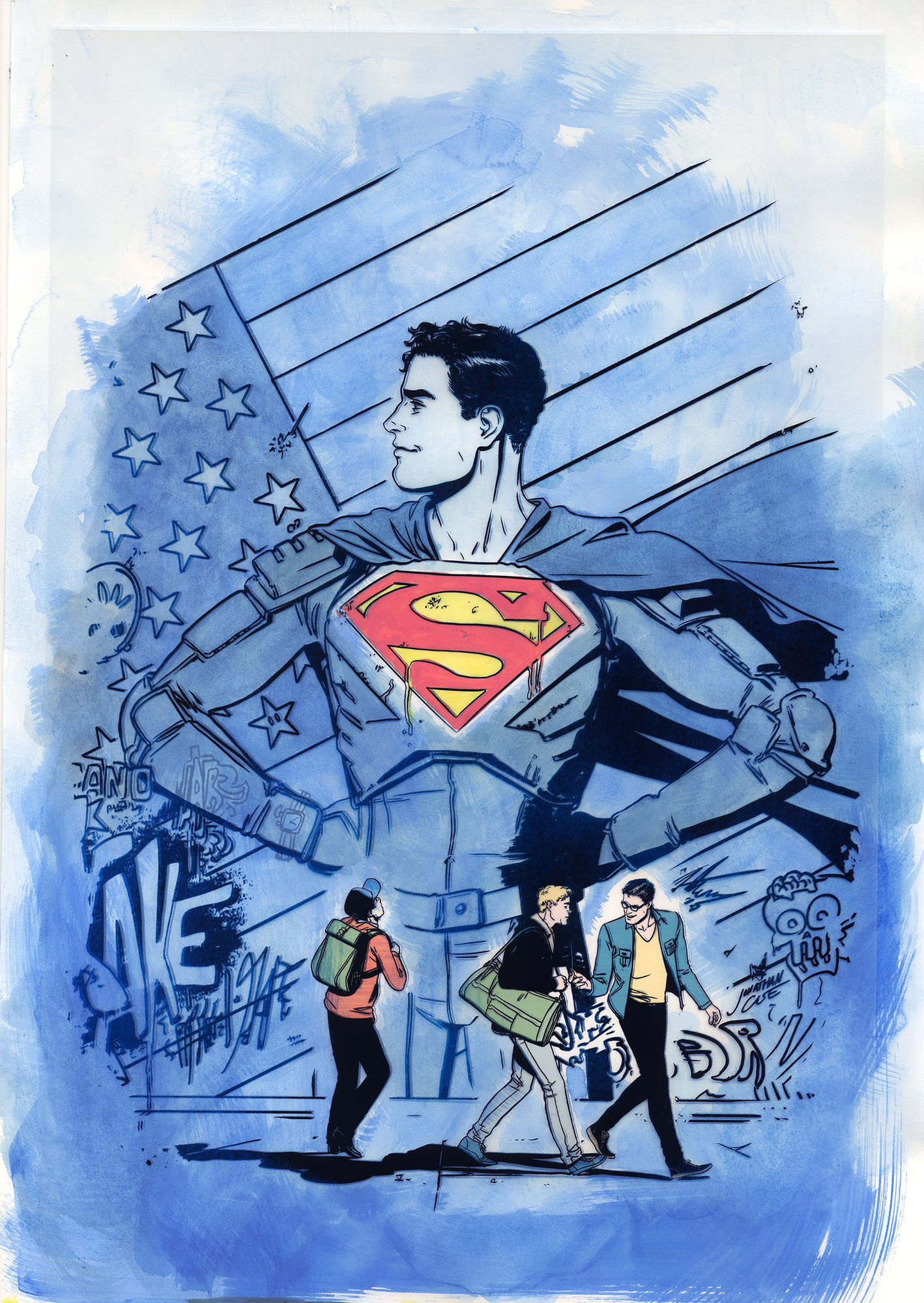 Superman: American Alien Original Art