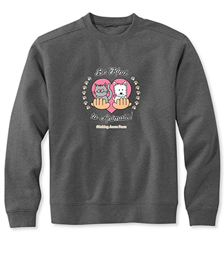 oinking acres be kind sweatshirt.jpg