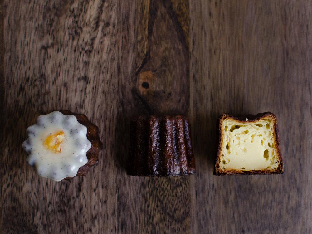 Canelé   Butter, Egg, Milk, Rum, Vanilla
