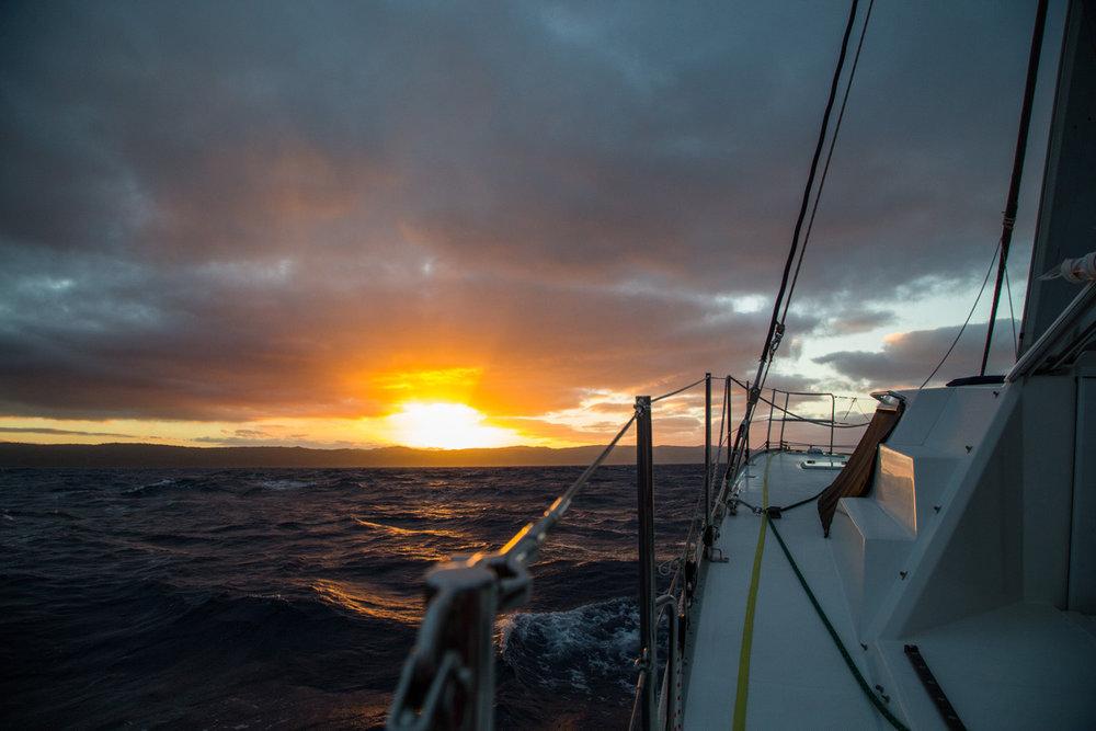 Sailing into sunset - yeah!