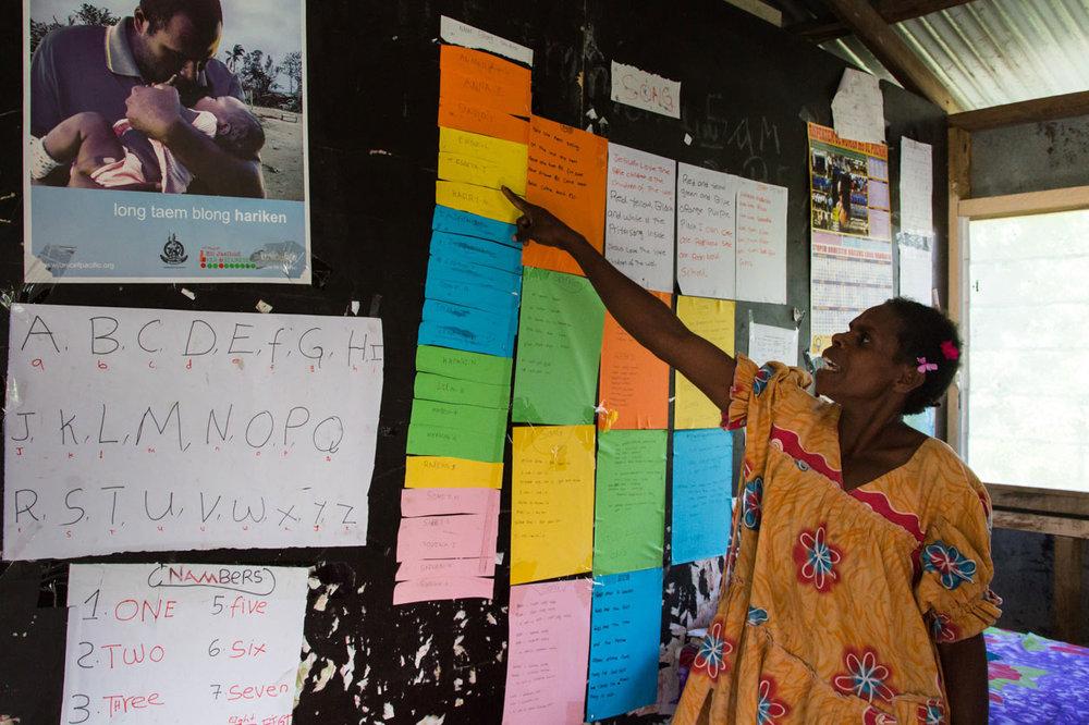 Miriam, school teacher in Vanuatu