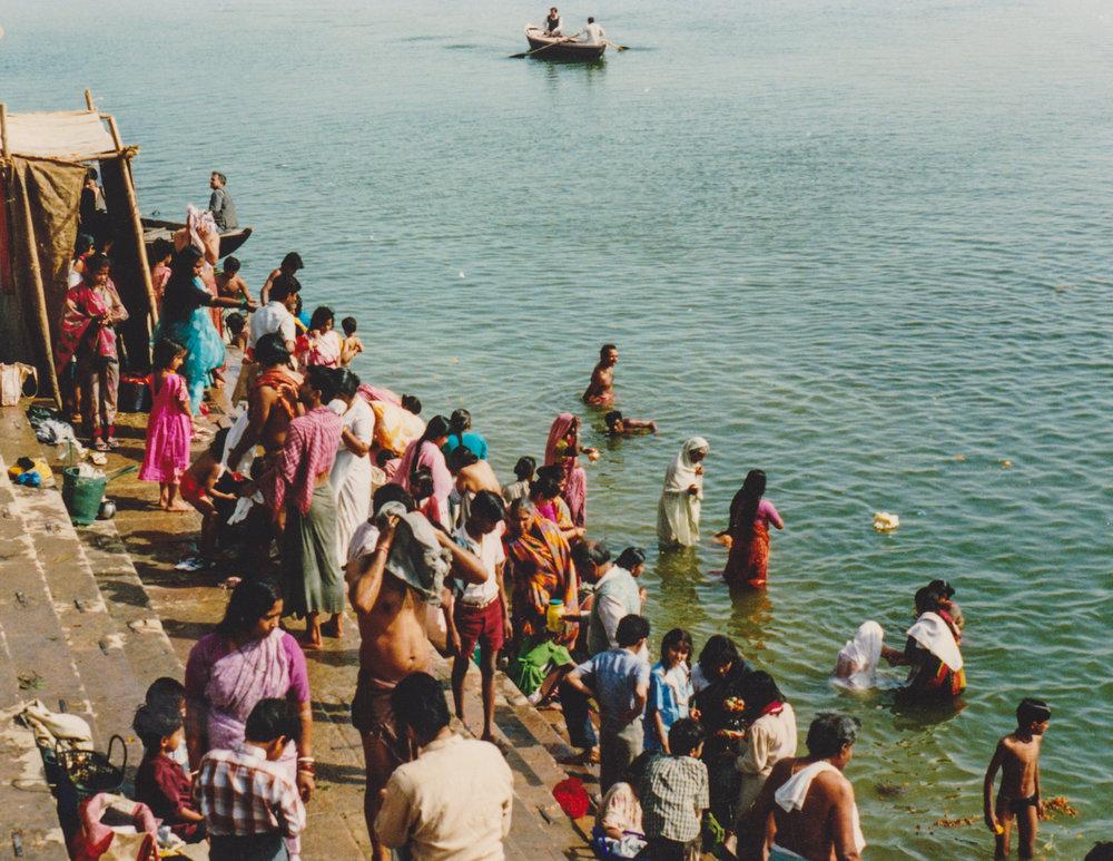 Bathing at Dashashwamedh Ghat