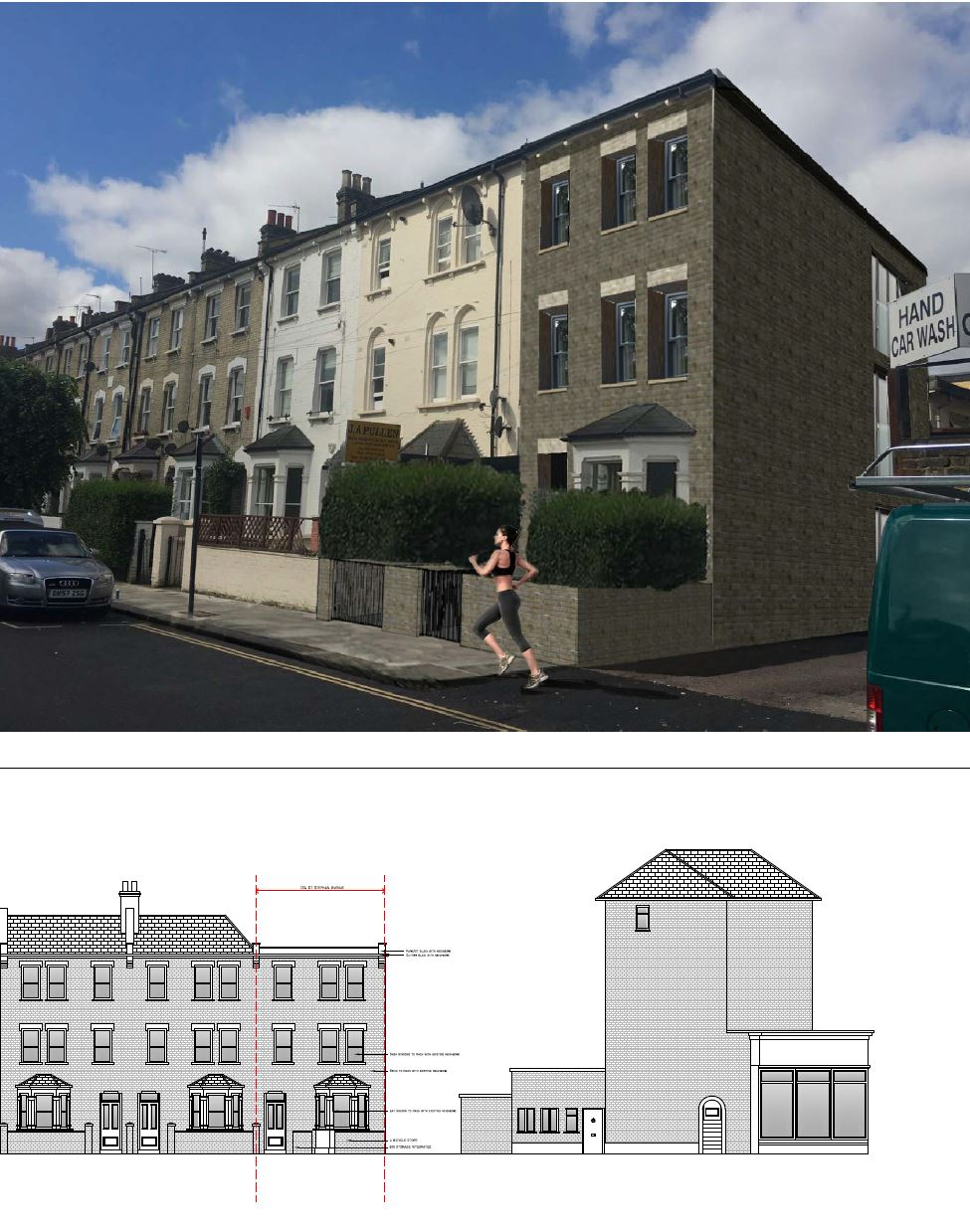 Garage conversion into a Two bedroom apartment - Hammersmith Council