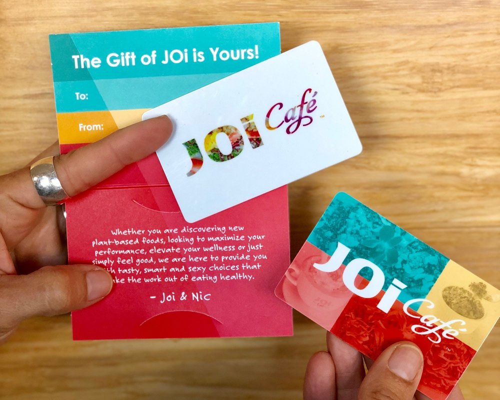 Give the Gift of JOi! - We are honored that you would like to share us with your friends and family. We will gladly ship our gift cards and goodies to you or directly to your friends and family.Check back in regularly as we add more great Gifts of JOi to our online store!