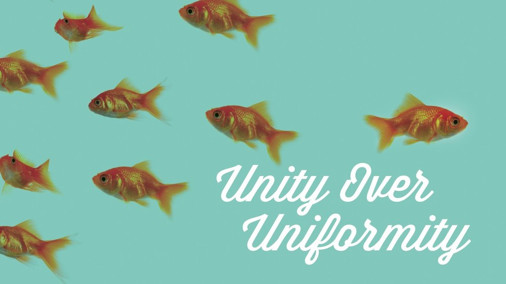 - Uniformity means everyone must strive to be the same. Unity means that we take our individual gifts and talents and weave them together with the unique gifts and talents of others. Our strength is not in how we are similar, but in how we bring together unique talent, experiences, and perspectives to serve our clients.