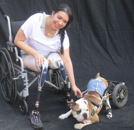 Zarevitz Camacho's tragic accident did not stop her from becoming a powerful advocate for animals and people with disabilities. (Photo Credit: Project Nala)