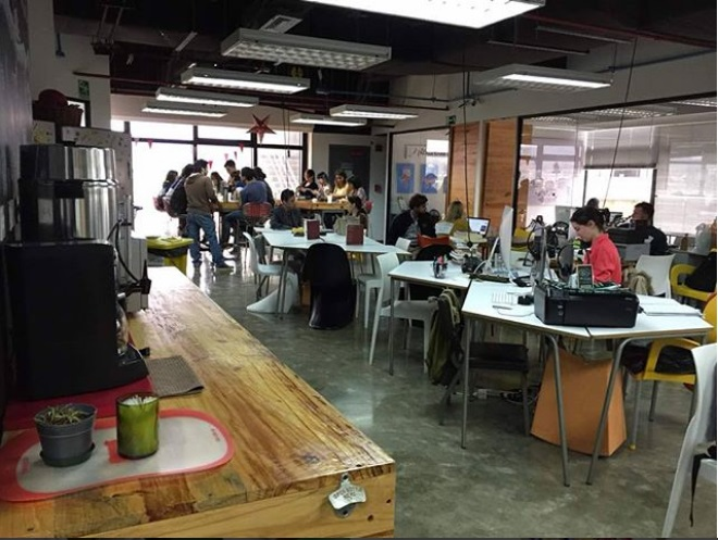 Impact Hub's co-working space creates an energetic and productive atmosphere. Photo: Erick Lezema