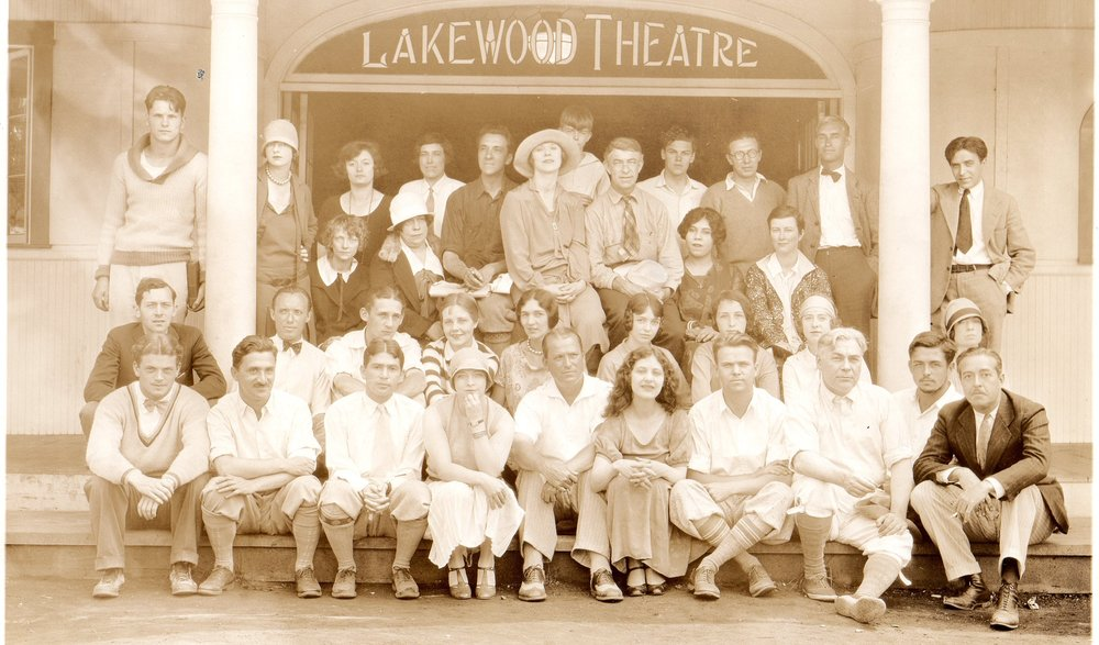 Company of Actors from Lakewood Theater ca. 1920's