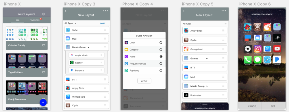 UI Screens