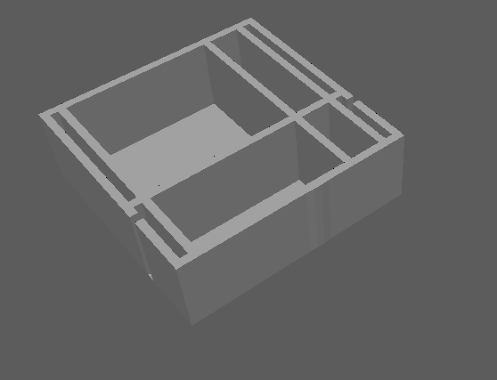 Going to split up the rooms by selecting and extruding the faces of the plane