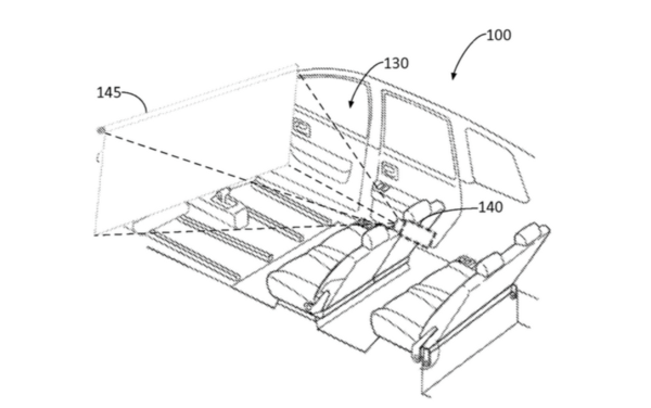 Ford's backseat projector patent
