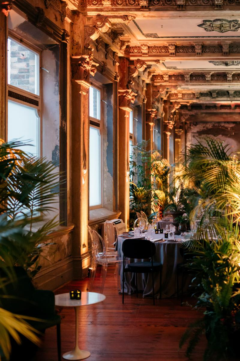 Jungle inspired wedding, featuring live plants at the George Ballroom, one of the most unique wedding venues in Melbourne.