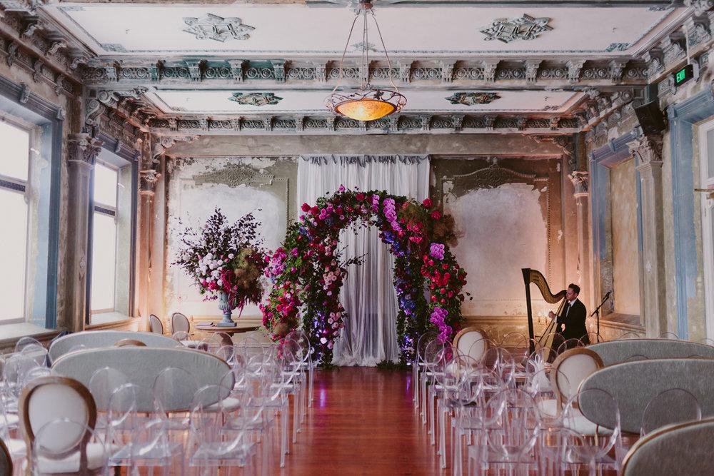 Wedding Ceremonies at The George Ballroom. Photo - Bec Rocchi
