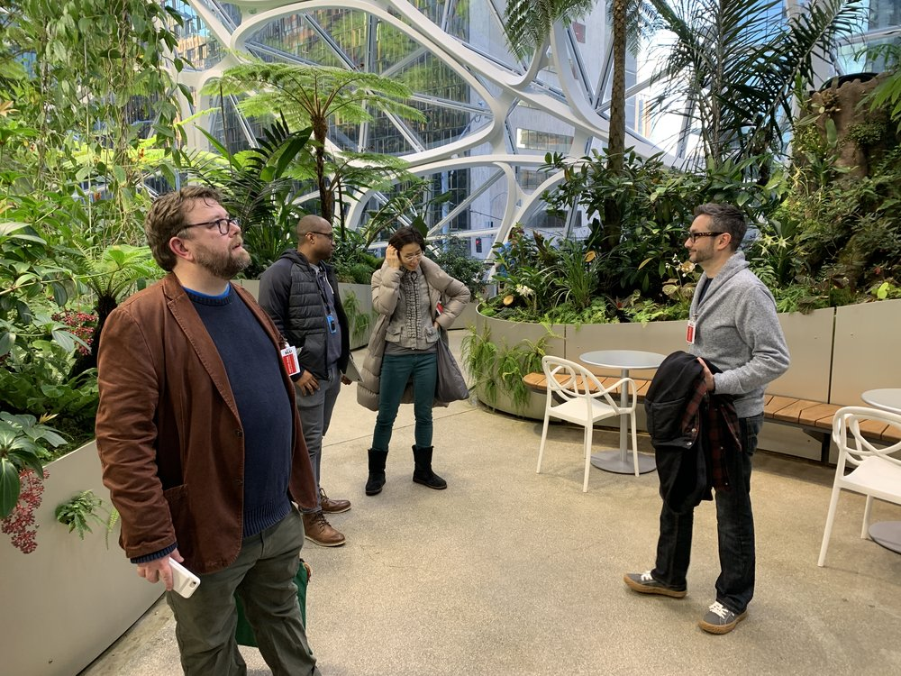 Skilltype development partners touring Amazon Spheres. January 23, 2019.