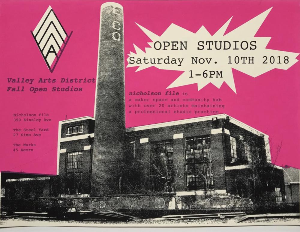 Meet me at the Steel Yard during VAD open studios!  In the Ceramics Studio, dress warm!