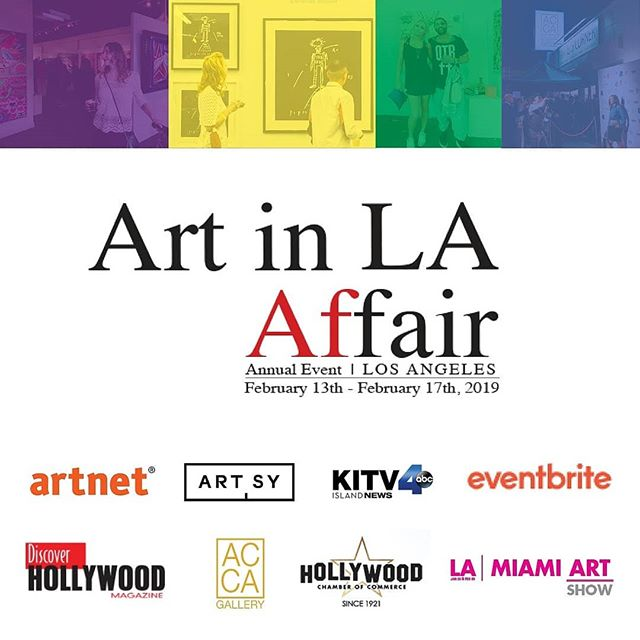 AC Gallery presents the second annual Art in LA AfFair 2019 in partnership with Artsy taking place concurrently with Frieze Los Angeles during LA Art Week.  Gallery Network Partners @artnet @artsy  Official payment service partner @square  @thehollywoodroosevelt @dreamhotelsla @loewshollywood  @japanhousela @hollywoodchamberofcommerce @jimmykimmellive #hollywood  @Artistscornergallery @DianeRosenstein @Gavlakgallery @JeffreyDeitchgallery @KohnGallery @RegenProjects @Steveturnerla @Tanyabonakdargallery  #hollywoodwalkoffame #egyptiantheatrehollywood @innout  @melsdrivein @innoutpeople  @dolbytheatre @chinesetheatres @hardrockcafe @magiccastleofficial  @yamashirola @taola @warwick_la