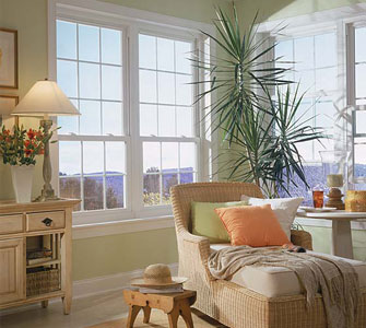 Double Hung Windows with Colonial Grids -