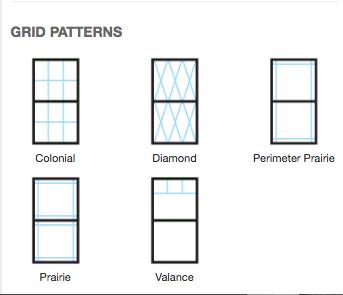 Window Grid Pattern Options