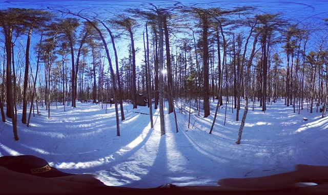 Finding art in 360. Snap of 360 video on a winter hike today is a reminder VR visuals can expand your mind's eye #virtualwalkabouts