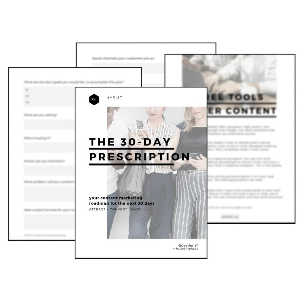Preview of Your Content Marketing 30-Day Prescription