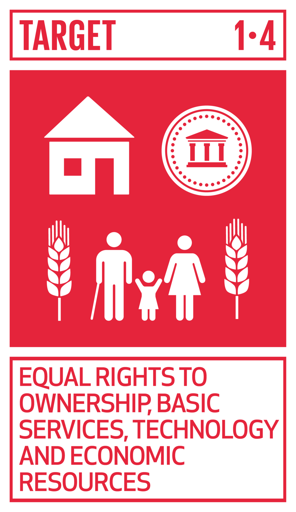 By 2030, ensure that all men and women, in particular the poor and the vulnerable, have equal rights to economic resources, as well as access to basic services, ownership and control over land and other forms of property, inheritance, natural resources, appropriate new technology and financial services, including microfinance.   INDICATORS    1.4.1  Proportion of population living in households with access to basic services   1.4.2  Proportion of total adult population with secure tenure rights to land, with legally recognized documentation and who perceive their rights to land as secure, by sex and by type of tenure