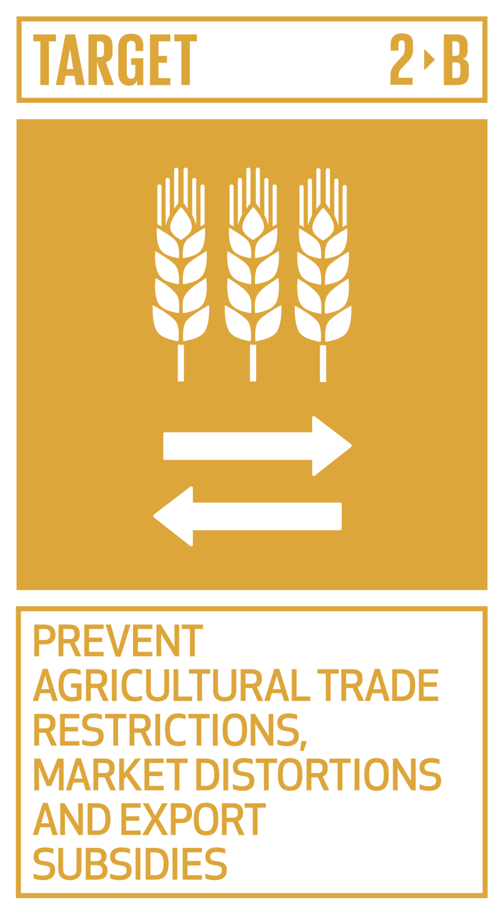 Correct and prevent trade restrictions and distortions in world agricultural markets, including through the parallel elimination of all forms of agricultural export subsidies and all export measures with equivalent effect, in accordance with the mandate of the Doha Development Round   INDICATOR    2.b.1  Agricultural export subsidies