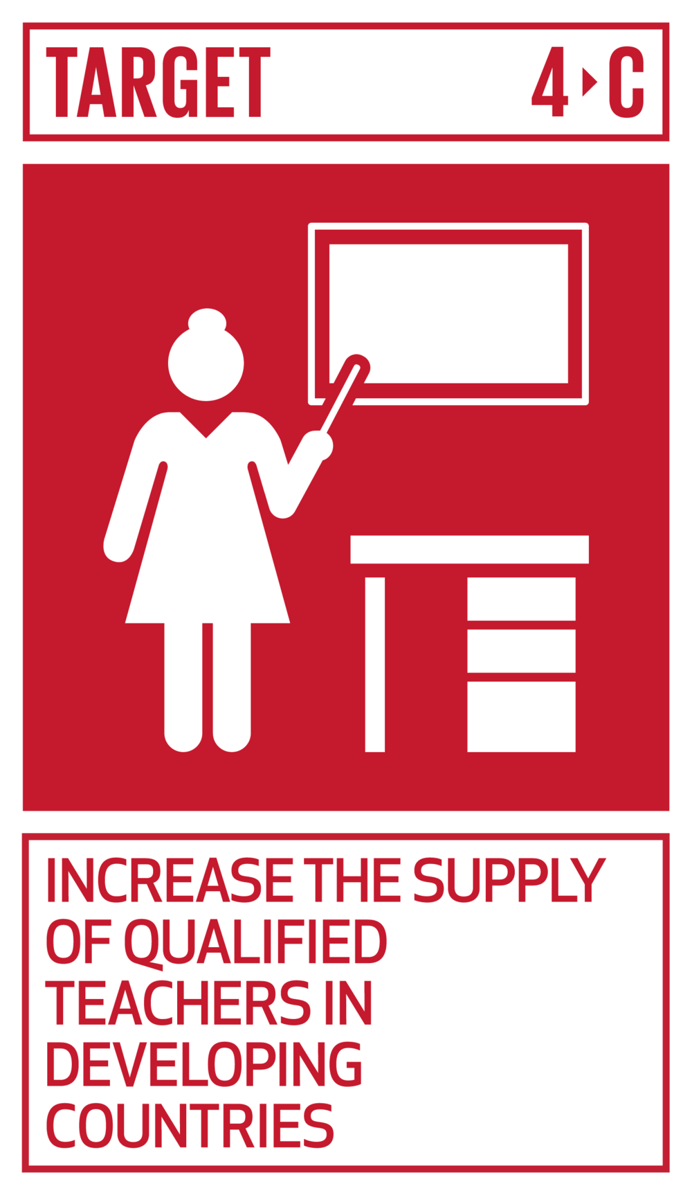 By 2030, substantially increase the supply of qualified teachers, including through international cooperation for teacher training in developing countries, especially least developed countries and small island developing States.   INDICATOR    4.c.1  Proportion of teachers in: (a) pre-primary; (b) primary; (c) lower secondary; and (d) upper secondary education who have received at least the minimum organized teacher training (e.g. pedagogical training) pre-service or in-service required for teaching at the relevant level in a given country