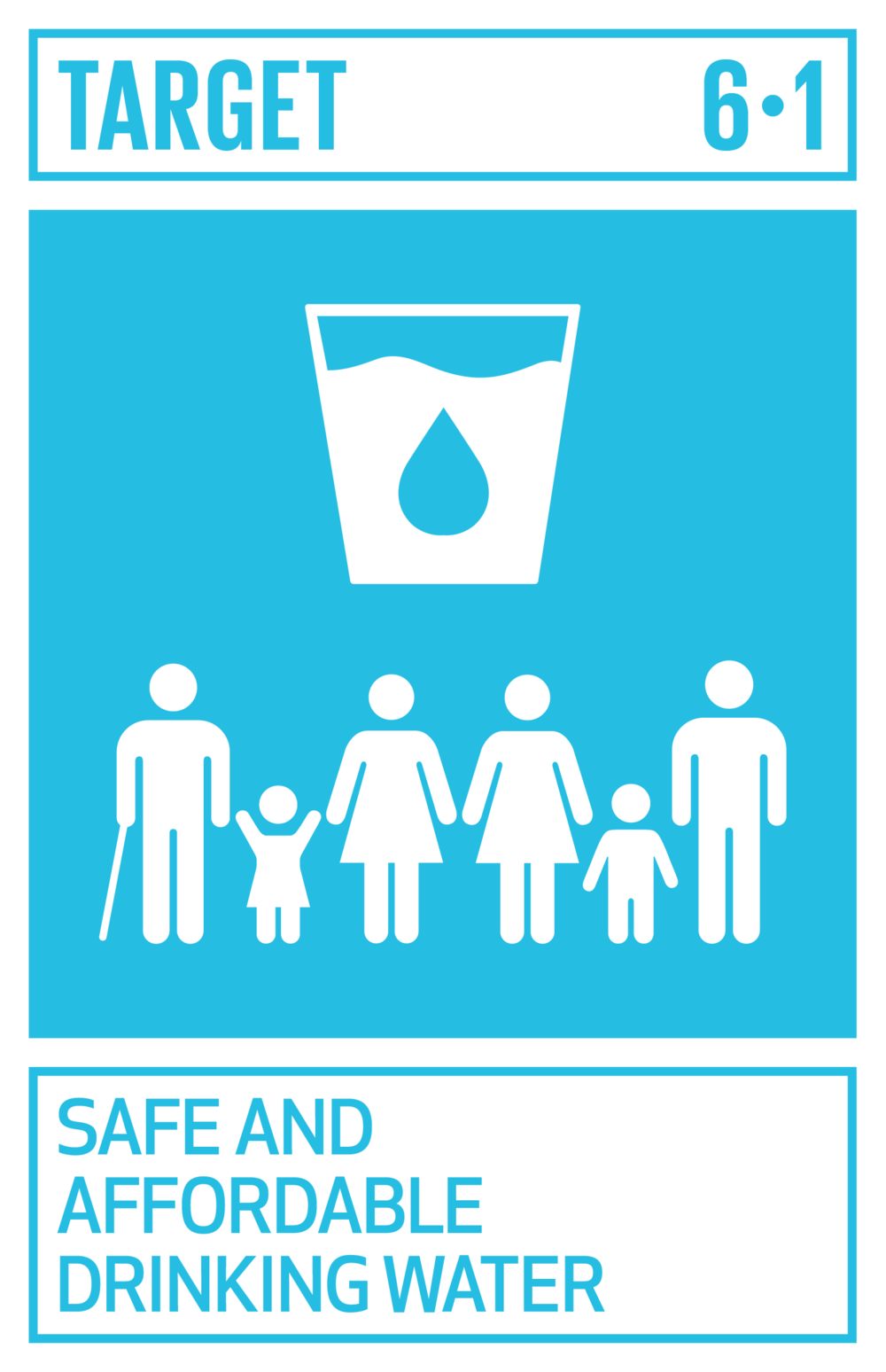 By 2030, achieve universal and equitable access to safe and affordable drinking water for all.   INDICATOR    6.1.1  Proportion of population using safely managed drinking water services