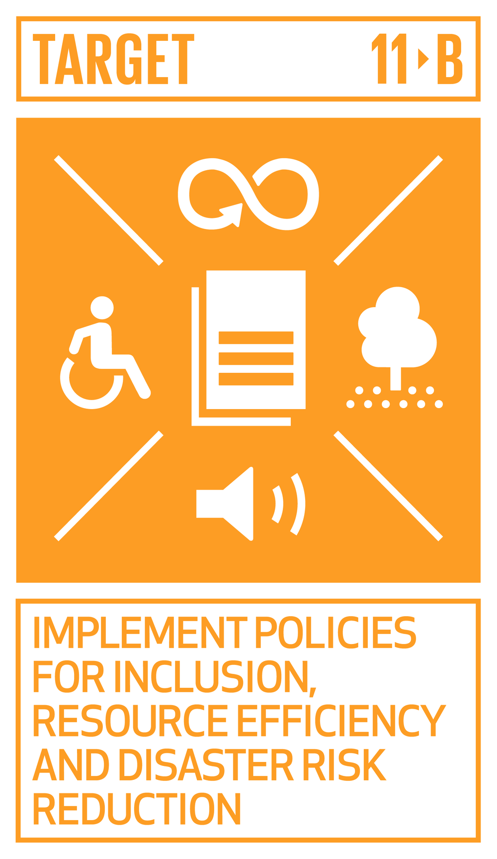 increase the number of cities and human settlements adopting and implementing integrated policies and plans towards inclusion, resource efficiency, mitigation and adaptation to climate change, resilience to disasters, and develop and implement, in line with the Sendai Framework for Disaster Risk Reduction 2015–2030, holistic disaster risk management at all levels.   INDICATORS    11.b.1  Number of countries that adopt and implement national disaster risk reduction strategies in line with the Sendai Framework for Disaster Risk Reduction 2015–2030   11.b.2  Proportion of local governments that adopt and implement local disaster risk reduction strategies in line with national disaster risk reduction strategies