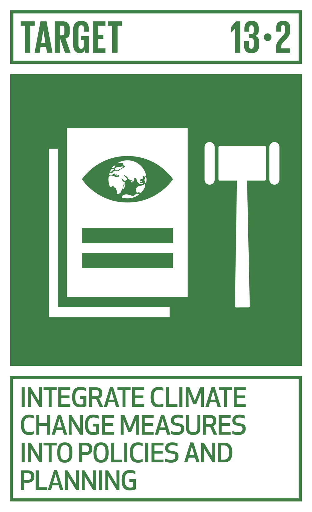 Integrate climate change measures into national policies, strategies and planning.   INDICATOR    13.2.1  Number of countries that have communicated the establishment or operationalization of an integrated policy/strategy/plan which increases their ability to adapt to the adverse impacts of climate change, and foster climate resilience and low greenhouse gas emissions development in a manner that does not threaten food production (including a national adaptation plan, nationally determined contribution, national communication, biennial update report or other)