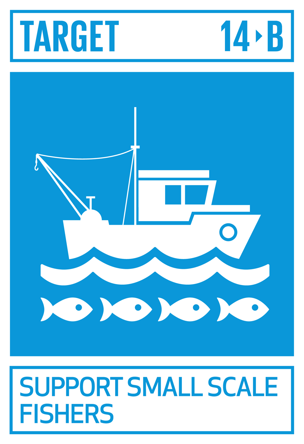 Provide access for small-scale artisanal fishers to marine resources and markets.   INDICATOR    14.b.1  Progress by countries in the degree of application of a legal/regulatory/policy/institutional framework which recognizes and protects access rights for small-scale fisheries
