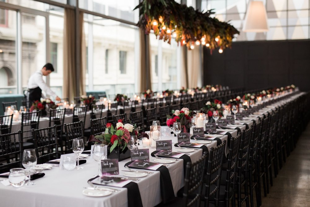 Sit down wedding reception at ALTO Event Space in the